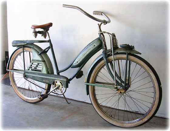 1949 jc higgins girls colorflow bicycle